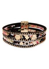 Topshop Embellished Floral Multistrand Bracelet