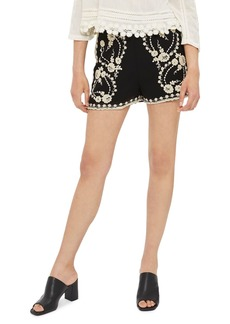 Topshop Embroidered Bed Shorts