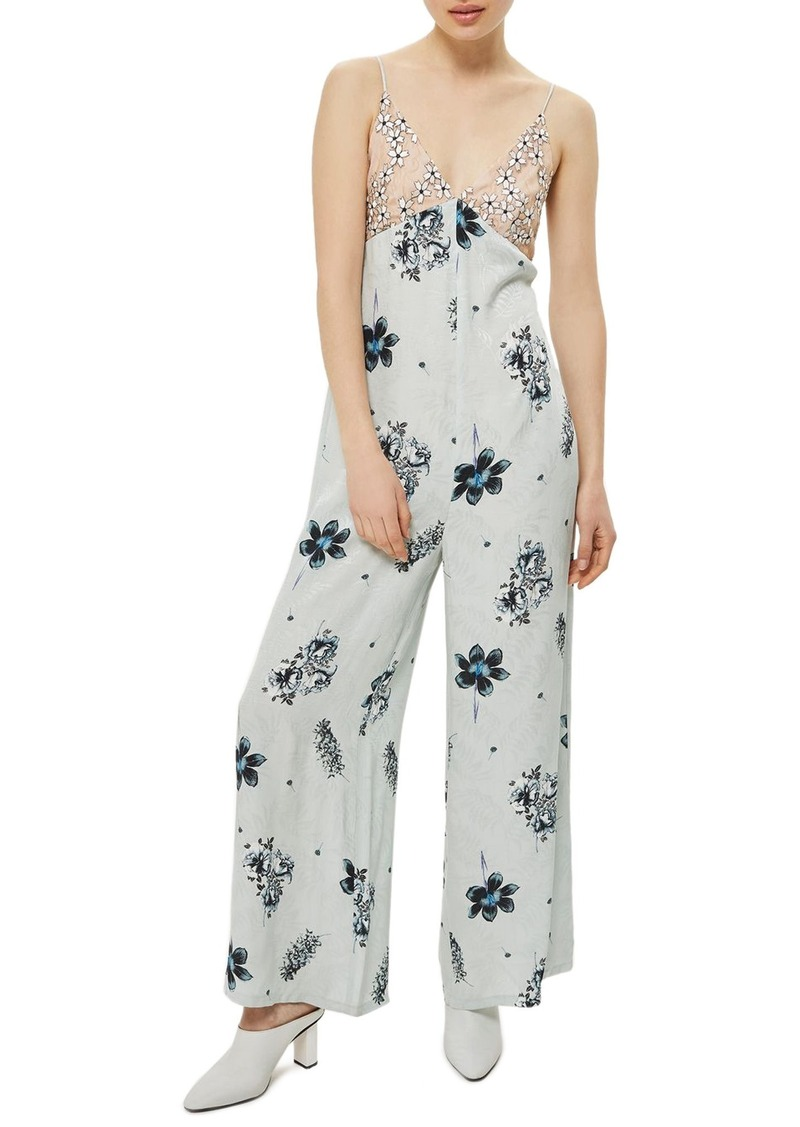 f37d88aa4793 Topshop Topshop Embroidered Floral Jumpsuit