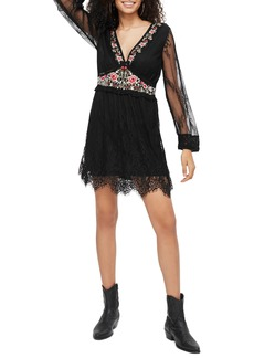 Topshop Embroidered Lace Dress