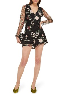 Topshop Embroidered Lace Romper