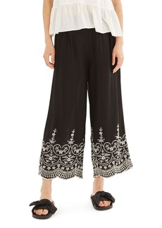 Topshop Embroidered Leg Trousers