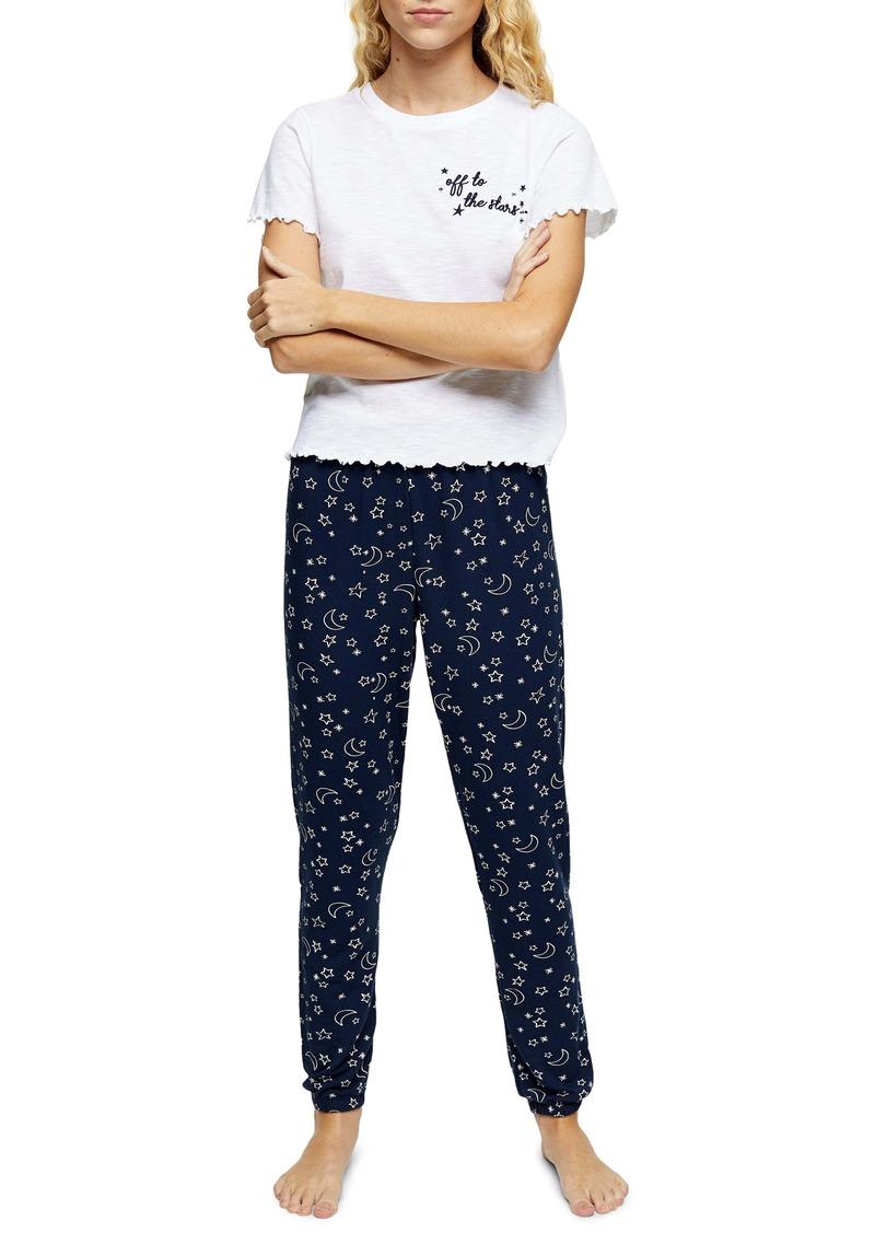 Topshop Embroidered Pajamas
