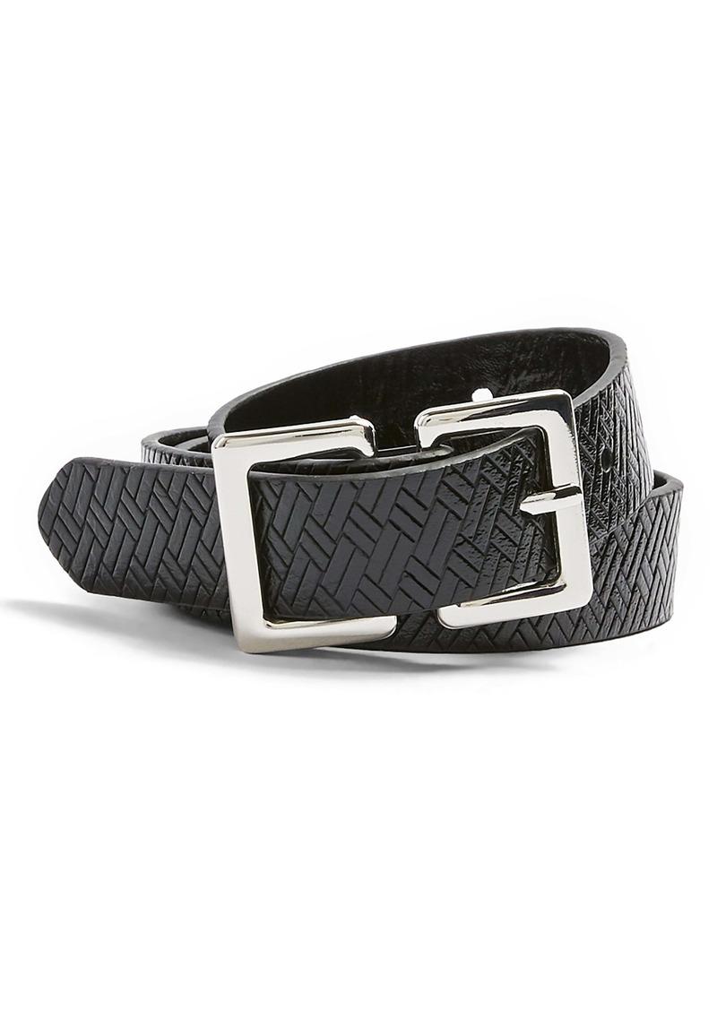 Topshop Etched Lattice Belt
