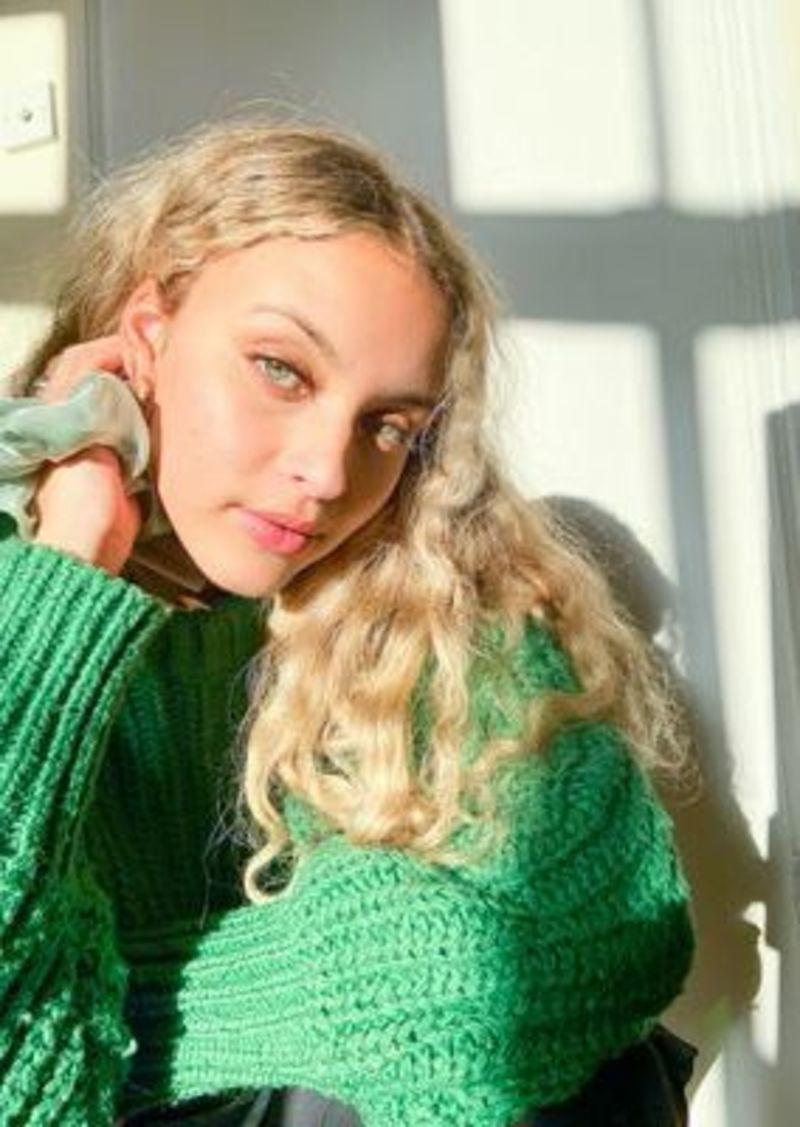 Topshop Exclusive hair scrunchie in sage green organza