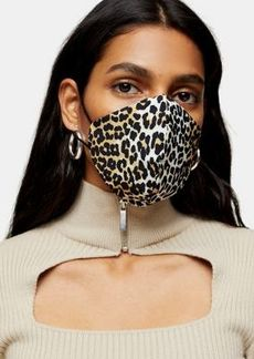 Topshop face covering in leopard print