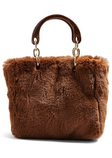 Topshop Faith Faux Fur Top Handle Bag