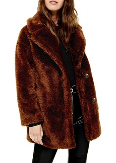 Topshop Faux Fur Coat (Regular & Petite)