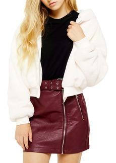 Topshop Faux Fur Hooded Jacket (Regular & Petite)