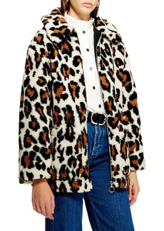 Topshop Faux Fur Jacket