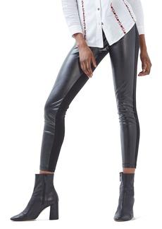 Topshop Faux Leather & Ponte Leggings