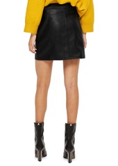1c804055f Topshop Topshop Faux Leather Buckle Zip Miniskirt