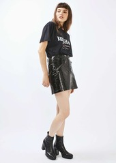 Topshop Faux Leather Miniskirt