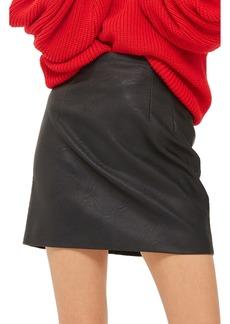 Topshop Faux Leather Pencil Miniskirt