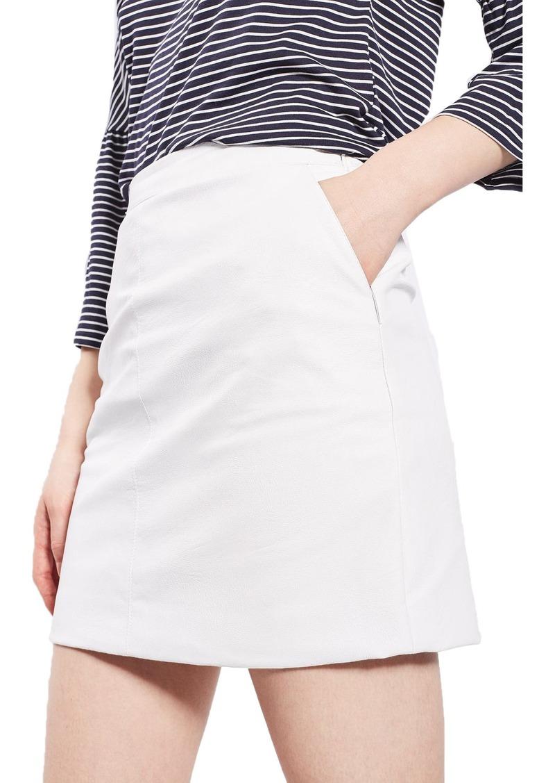 Topshop Faux Leather Pencil Skirt (Regular & Petite)