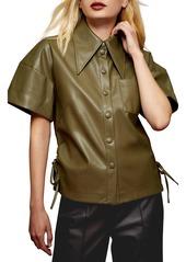 Topshop Faux Leather Shirt