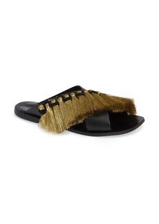 Topshop Fifi Fringe Slide Sandal (Women)