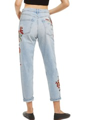 6fb1eede232 Topshop Topshop Fire Flower High Rise Ripped Mom Jeans (Petite)   Denim