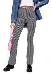 Topshop Flare Leg Gingham Trousers