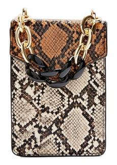 Topshop Fliss Snake Print Crossbody Bag