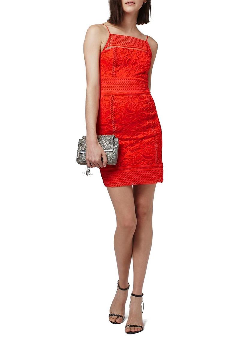 Topshop Floral Crochet Body-Con Dress (Regular & Petite)