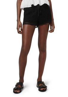 Topshop Floral Crochet Shorts (Regular & Petite)