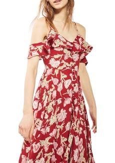 Topshop Floral Off the Shoulder Maxi Dress (Regular & Petite)