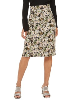 Topshop Floral Palm Print Pencil Skirt
