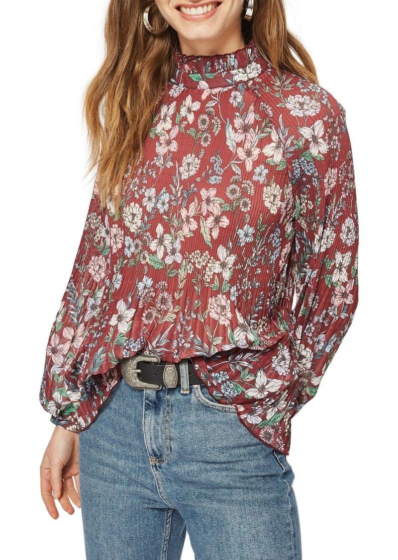 55175c7ecc0 Topshop Topshop Floral Pleat Tunic Blouse