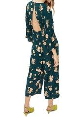 Topshop Floral Print Jumpsuit