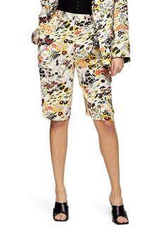 Topshop IDOL Floral Print Shorts