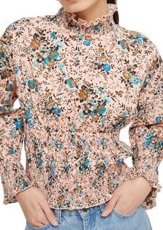 Topshop Floral Print Smock Blouse