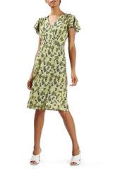 Topshop Floral Print Wrap Midi Dress
