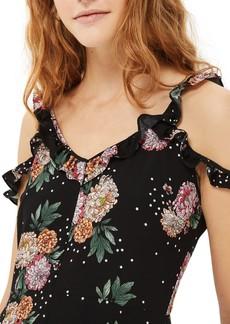 Topshop Floral Ruffle Jumpsuit (Petite)