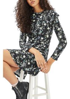 Topshop Floral Ruffle Minidress