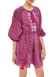 Topshop Floral Smock Dress