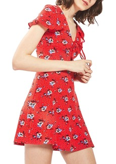 Topshop Floral Spot Tea Dress