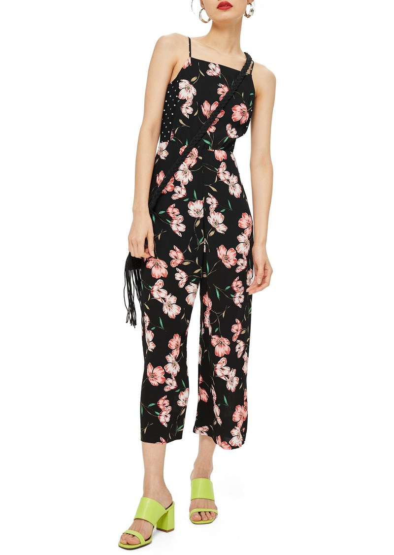 6f195a17cc7 On Sale today! Topshop Topshop Floral Spotted Bow Back Jumpsuit