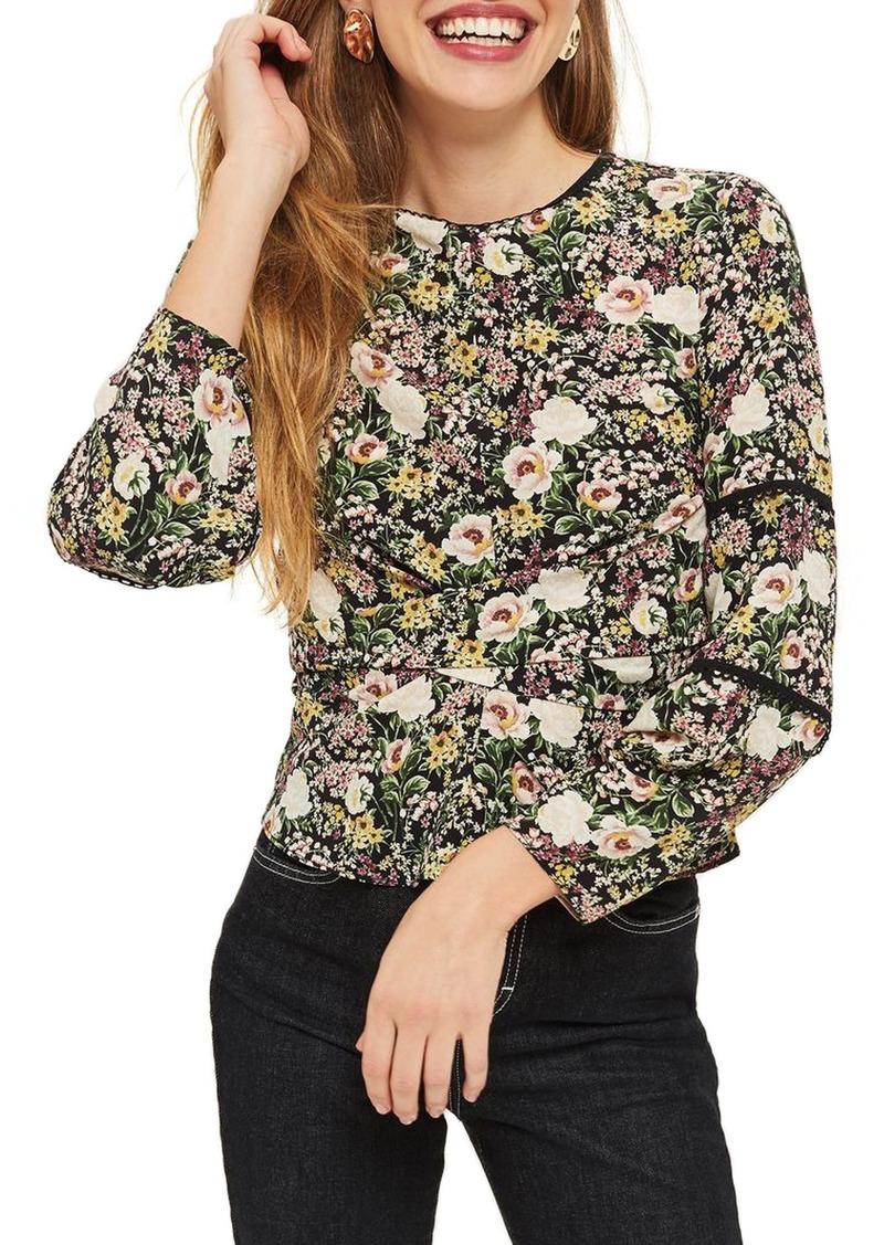 19fa01e24f1094 Topshop Topshop Floral Twist Wrap Blouse | Casual Shirts