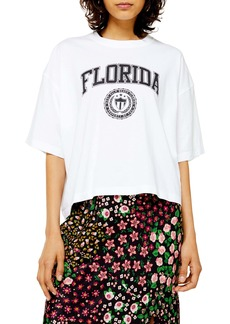 Topshop Florida Washed Graphic Tee