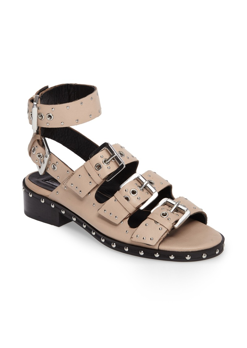 competitive price low price hot sale online Frank Studded Buckle Sandal (Women)