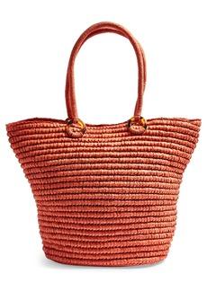 Topshop Franka Straw Ring Tote Bag