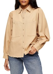 Topshop Fray Shirt Jacket