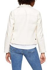 Topshop Fred Faux Leather Biker Jacket (Regular & Petite)