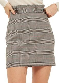 Topshop Frill Edge Heritage Check Skirt