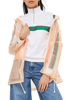 Topshop Frosted Marge Mac Rain Jacket