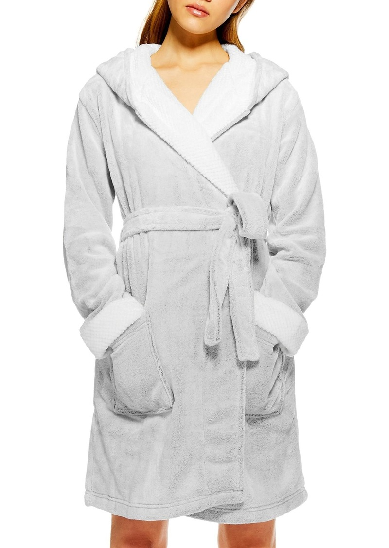 90bbaf9a1ef Topshop Topshop Frosted Waffle Hooded Fleece Robe