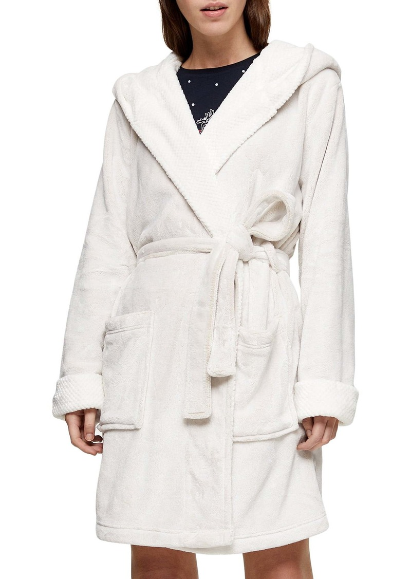 Topshop Frosted Waffle Short Robe