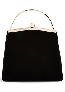 Topshop Garland Velvet Frame Bag