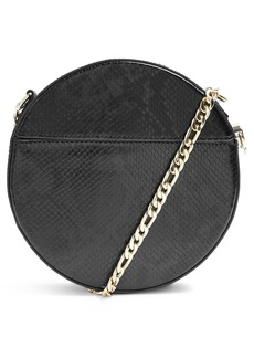 Topshop Gee Circle Faux Leather Shoulder Bag